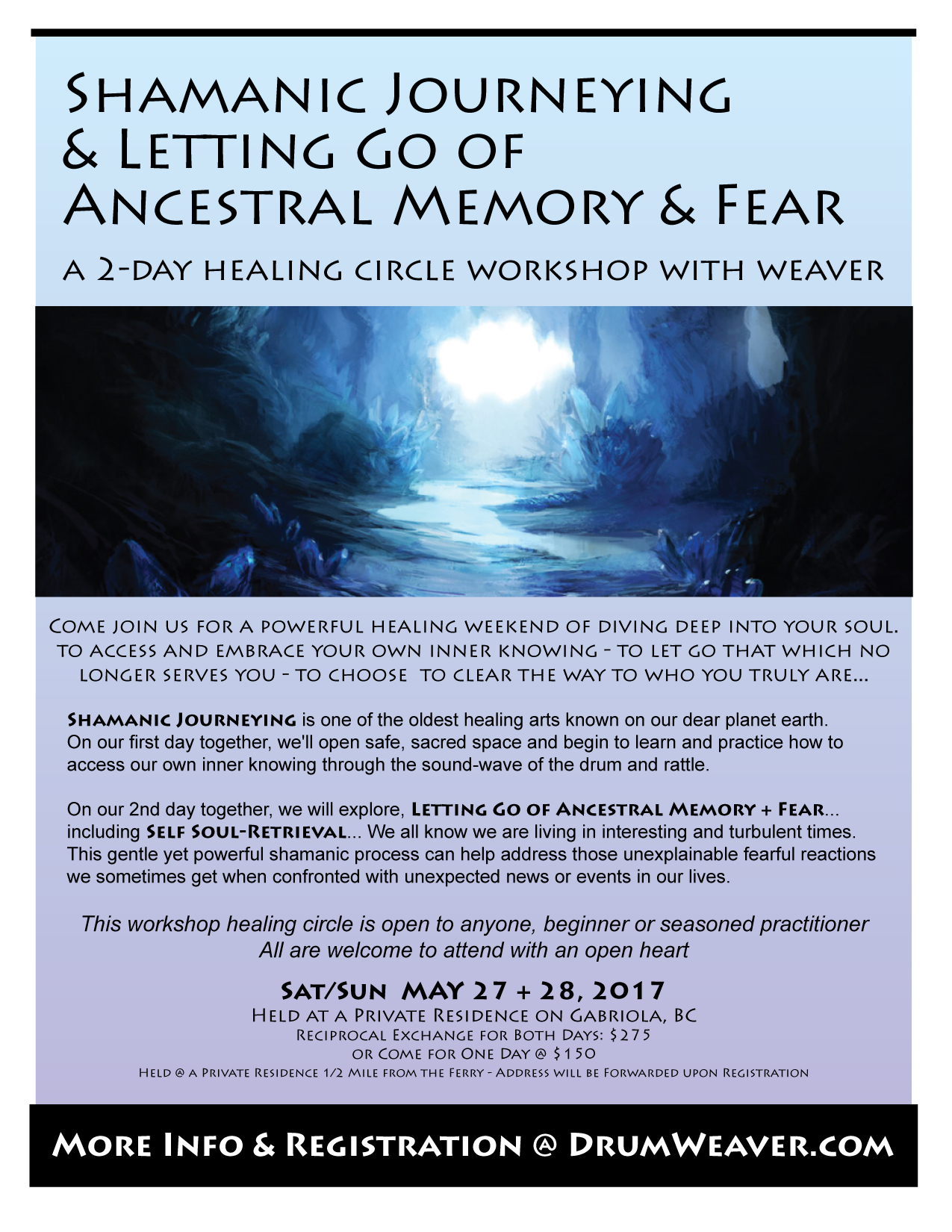 Shamanic Journeying + Letting Go Ancestral Memory + Fear