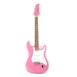 pink stratocaster guitar
