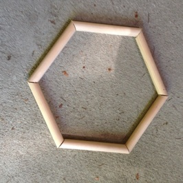 wooden hexagon